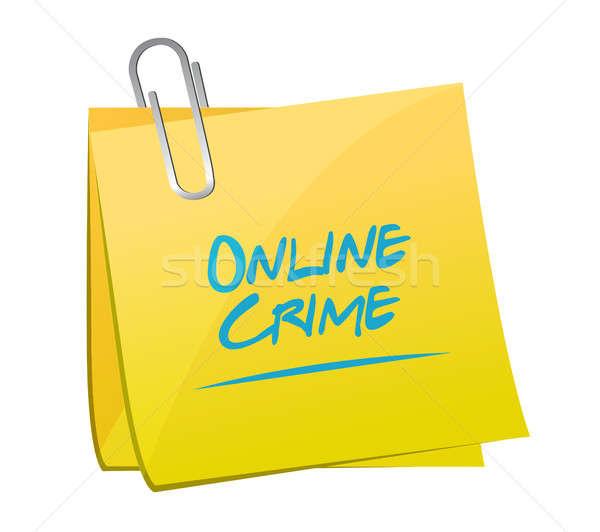 çevrimiçi suç not gönderemezsiniz imzalamak örnek Stok fotoğraf © alexmillos