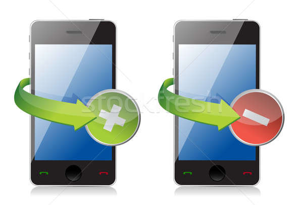 maximize and close phone icons Stock photo © alexmillos