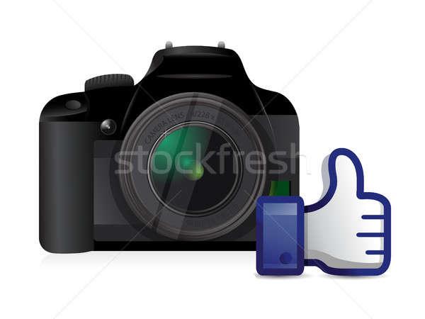 camera thumbs up like illustration Stock photo © alexmillos