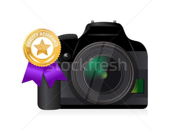 camera quality gold ribbon Stock photo © alexmillos