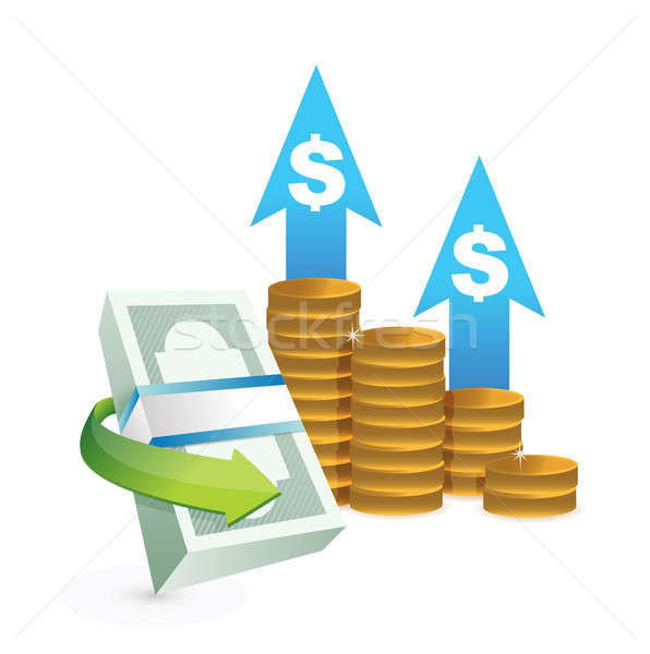 profits going up concept illustrations Stock photo © alexmillos