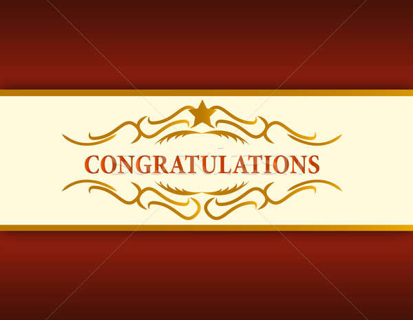 gold Congratulations card illustration design Stock photo © alexmillos