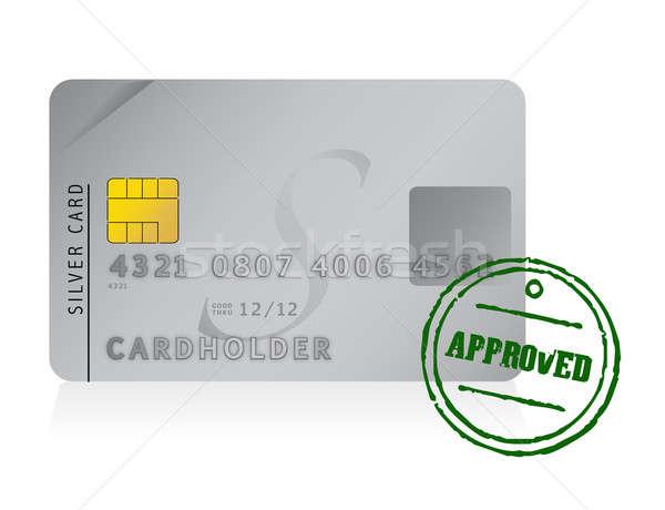 Carta di credito approvato illustrazione design bianco mappa Foto d'archivio © alexmillos