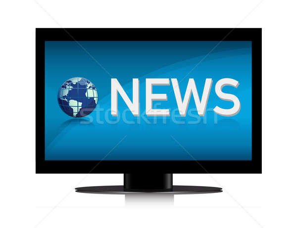 Stock photo: illustration of TV showing NEWS on screen illustration design