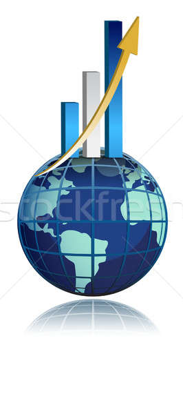 global business growth bar graph Stock photo © alexmillos