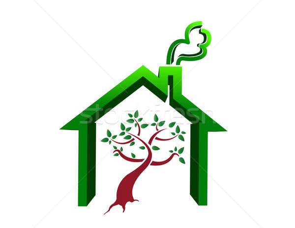 tree house illustration design isolated over a white background Stock photo © alexmillos