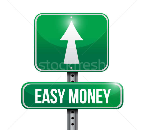 easy money road sign illustration design over a white background Stock photo © alexmillos