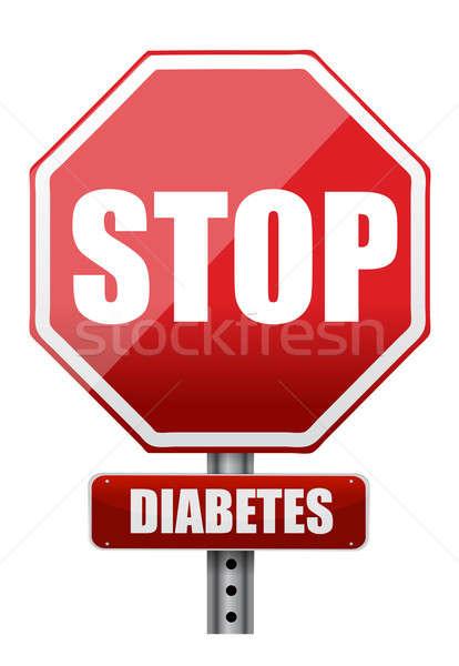 Stop diabete illustrazione design bianco medici Foto d'archivio © alexmillos