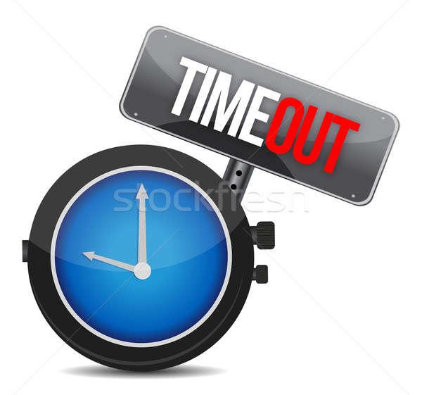 Timeout concept illustration design over a white background Stock photo © alexmillos