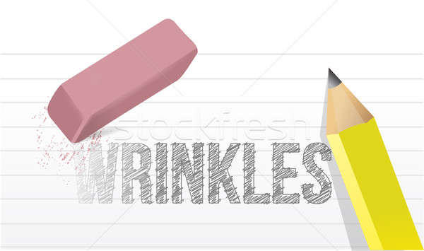 erase wrinkles concept illustration design over a white backgrou Stock photo © alexmillos