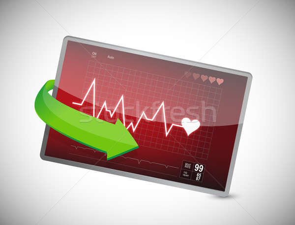 Lifeline in an electrocardiogram Stock photo © alexmillos