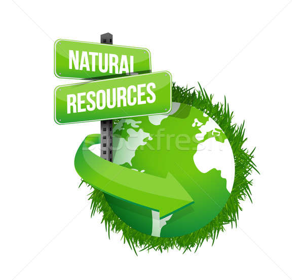 natural resources concept illustration design over white Stock photo © alexmillos