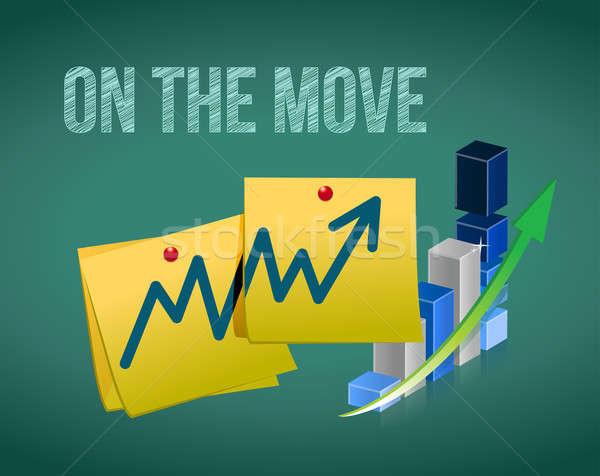 business in the move concept illustration design over white Stock photo © alexmillos