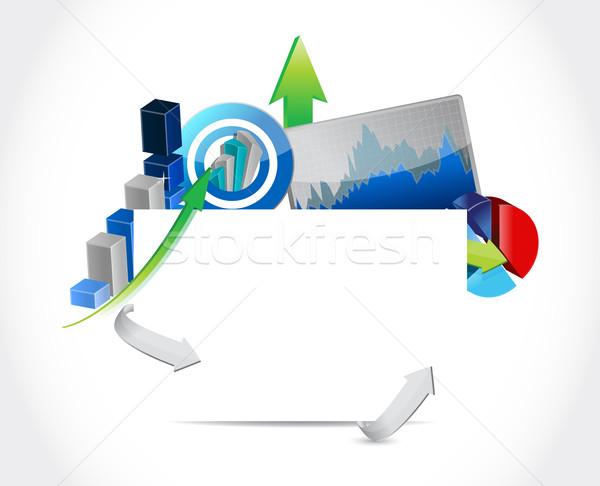 üzlet üres tábla illusztráció munka ipar diagram Stock fotó © alexmillos