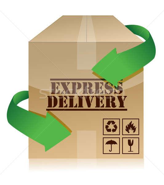 Expressz szállítás illusztráció terv sebesség bolt szállítás Stock fotó © alexmillos