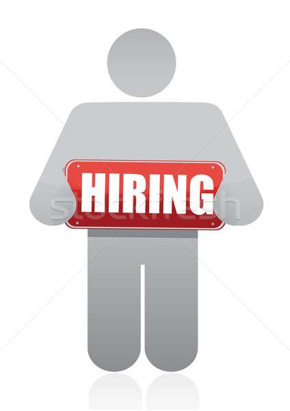 Icon and hiring sign  Stock photo © alexmillos