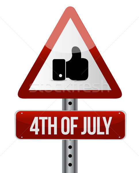 4th of July like road sign concept illustration Stock photo © alexmillos