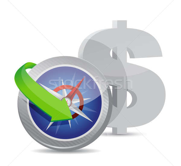 dollar Compass currency exchange direction Stock photo © alexmillos