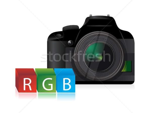 camera rgb color cubes Stock photo © alexmillos
