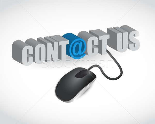 Segno mouse illustrazione design bianco Foto d'archivio © alexmillos