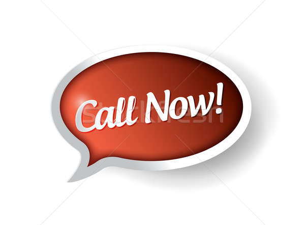 Call Now 3d red banner illustration Stock photo © alexmillos
