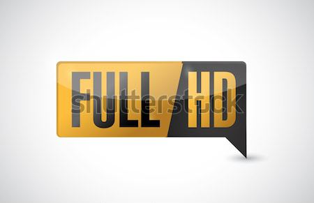 Full HD. High definition button. illustration Stock photo © alexmillos