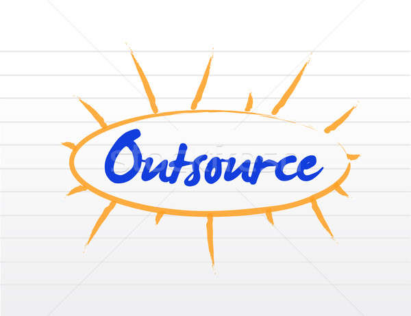 Outsourcing concept illustration Stock photo © alexmillos