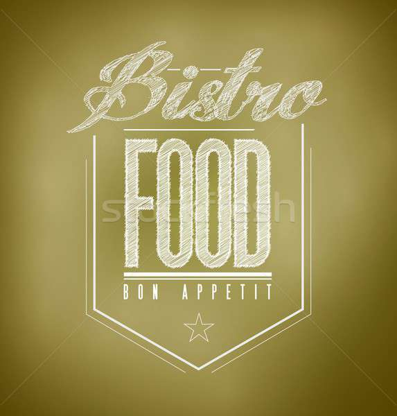 brown Bistro Poster sign text banner Stock photo © alexmillos