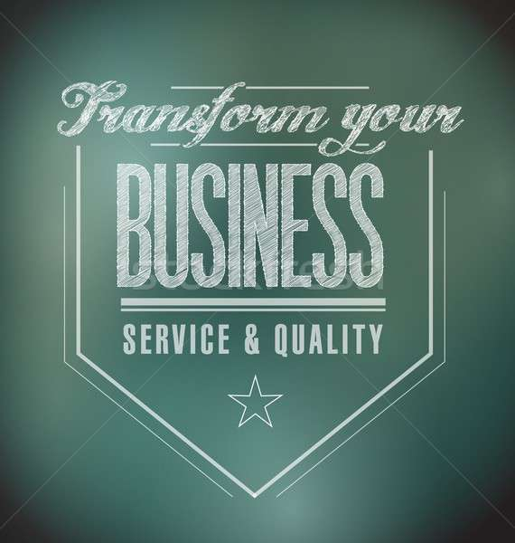 transform your business seal message. illustration Stock photo © alexmillos