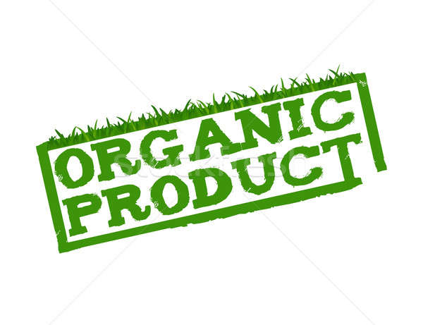 Organic Product sign isolated in white. Stock photo © alexmillos
