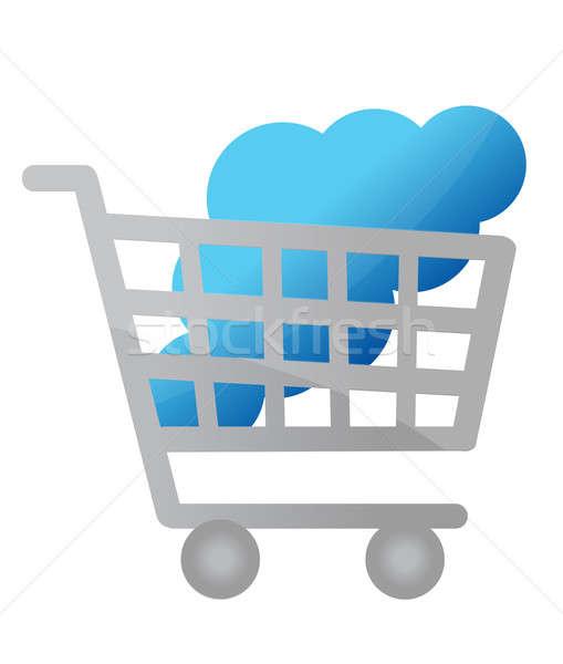Acheter Ouvrir la illustration design Shopping Photo stock © alexmillos