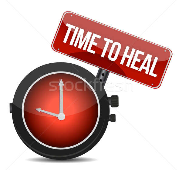 Time to HEAL illustration design over a white background Stock photo © alexmillos