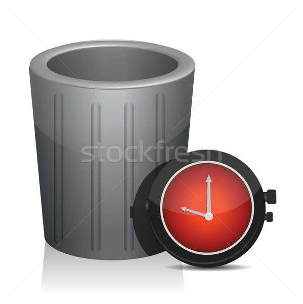 ゴミ タイマー 時計 実例 デザイン 白 ストックフォト © alexmillos