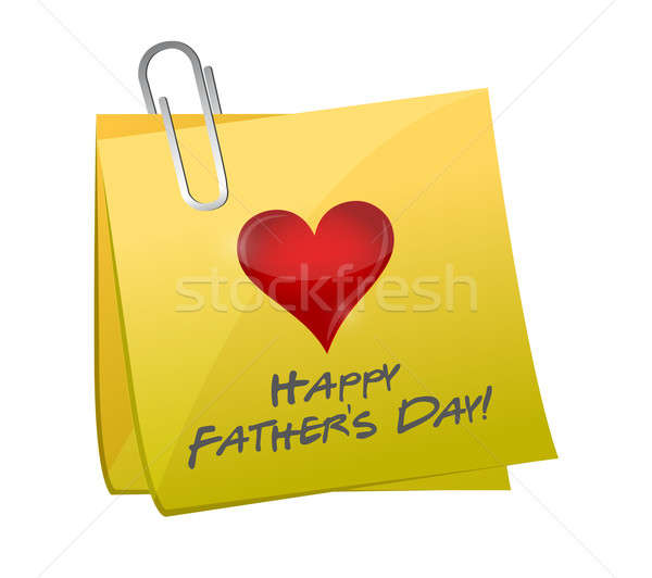 fathers day post. illustration design over a white background Stock photo © alexmillos