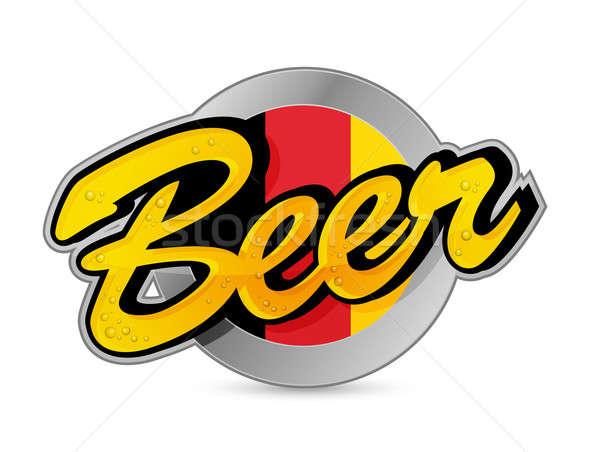 Bélgica cerveza anunciante signo sello ilustración Foto stock © alexmillos