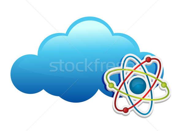Düşünme kimya bulut su tıbbi teknoloji Stok fotoğraf © alexmillos