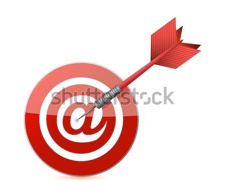 Kéz tart piros cél darts fotó Stock fotó © alexmillos