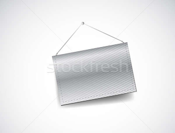 wall hanging blank template banner Stock photo © alexmillos