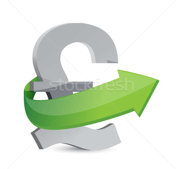 Brits pond teken pijl groei illustratie Stockfoto © alexmillos