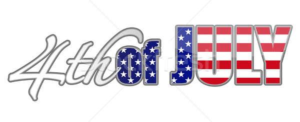 Stock fotó: Negyedik · terv · vektor · akta · kék · zászló