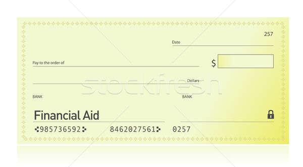 Finansal yardım kontrol örnek dizayn güvenlik Stok fotoğraf © alexmillos