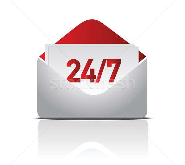 24/7 delivery mail illustration design Stock photo © alexmillos