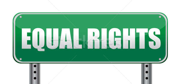 Equal Rights road sign isolated on white. Stock photo © alexmillos