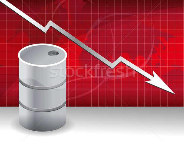 Öl Preise fallen nach unten Illustration Finanzierung Stock foto © alexmillos