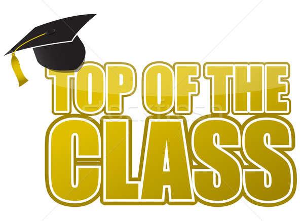 Topo classe graduação boné ilustração assinar Foto stock © alexmillos