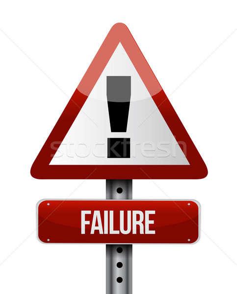 失敗 道路標識 実例 デザイン 白 ストックフォト © alexmillos