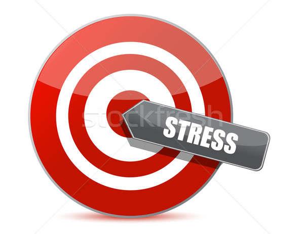 Stock photo: Target stress bulls eye illustration design over white