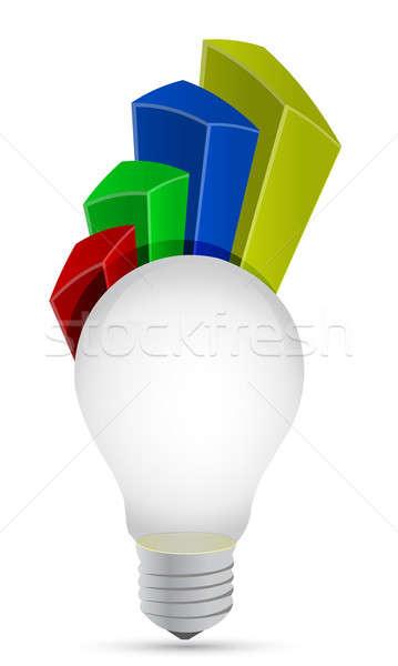 Ampul grafik örnek dizayn beyaz yeşil Stok fotoğraf © alexmillos