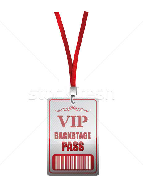 Backstage pass vip illustration design Stock photo © alexmillos
