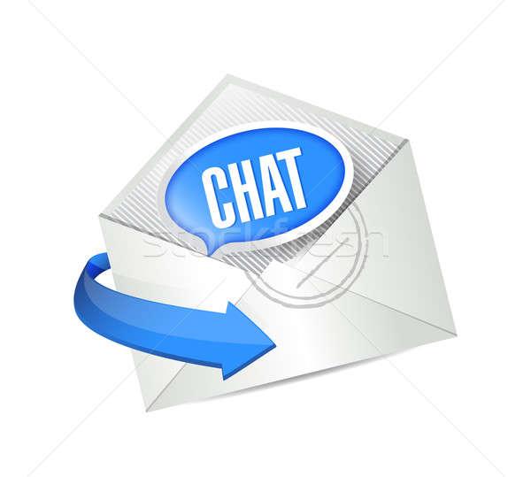 Chat dotación mail ilustración diseno comunicación Foto stock © alexmillos